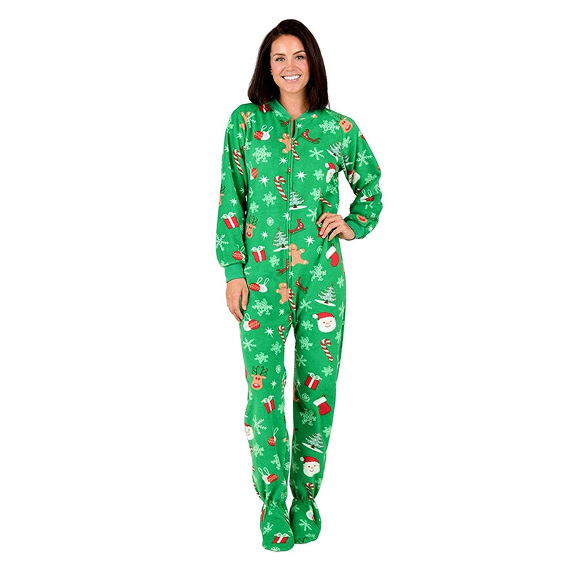 Footed Christmas Adult Pajamas Funny Outfits