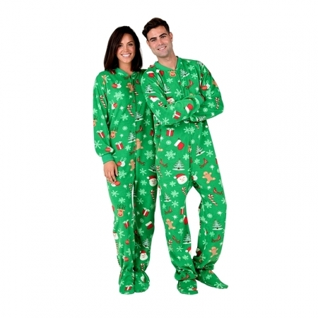 Footed Christmas Adult Pajamas