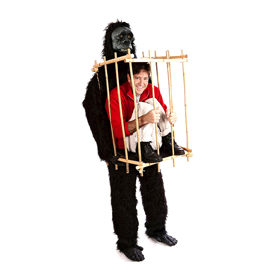 Gorilla and Cage Costume Kit