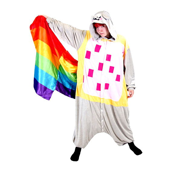 Nyan Cat Rainbow Tail Onesie