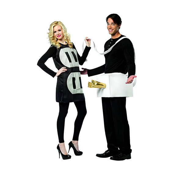 Plug and Socket Couples Costume  sc 1 st  Funny Onesies For Adults Couples Costumes u0026 Jumpsuits & Plug and Socket Couples Costume - Funny Outfits