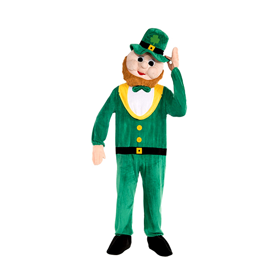 Plush Leprechaun Mascot Costume