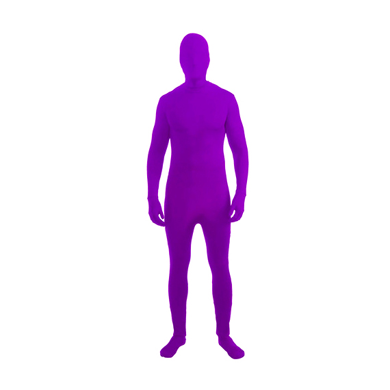 Purple Invisible Skin Suit Kids Costume