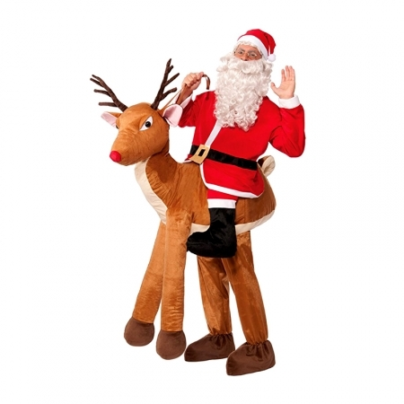Santa Riding a Reindeer Adult Costume