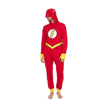 The Flash Adult Hooded One Piece Pajama