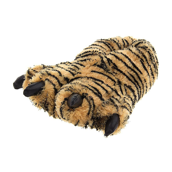 Tiger Paw Animal Slippers