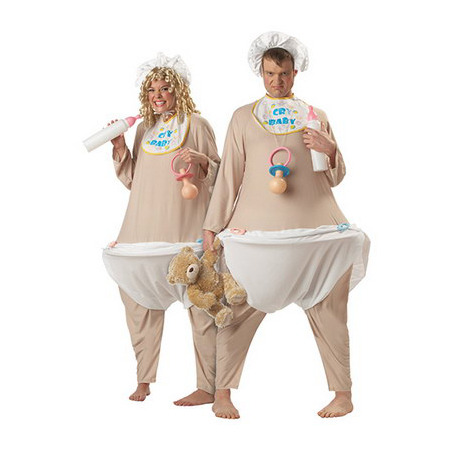 Adult Baby Couple Costume