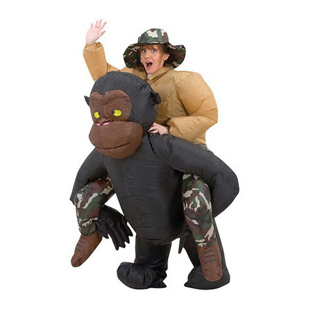 Inflatable Riding Gorilla Costume