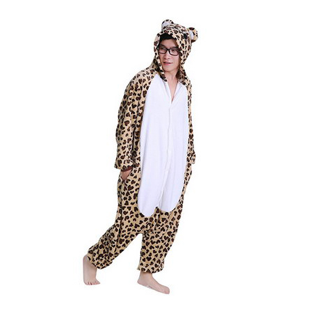 Leopard Bear Jumpsuit Party Onesie