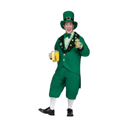St Pat Pub Leprechaun Hat And Tie Costume