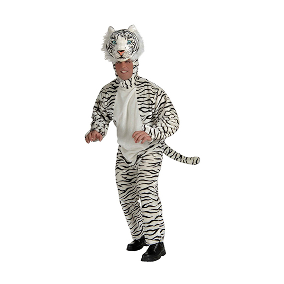 White Tiger Deluxe Plush Mascot Costume